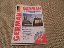 GERMAN - CD INTENSIVE LANGUAGE COURSE 4 CDs (240 mins.) 200 PAGE COURSEBOOK. NEW