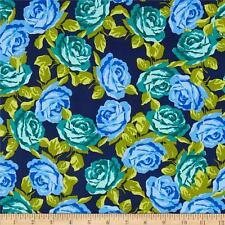 Kimono-Flor árbol por MAKOWER Algodón Quilting fabric Flor Floral Púrpura