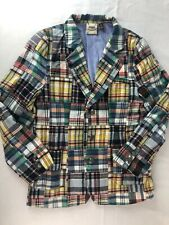 Fore! Axel and Hudson Madras Multi Plaid Patchwork Golf Blazer Jacket Boys 7/8 L