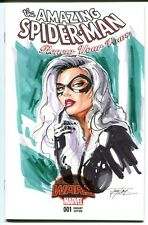 MARVEL Comics SPIDER-MAN RENEW VOWS #1 Original Art Blank Sketch BLACK CAT VENOM