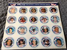 1988 Jiffy Pop Uncut Sheet Ripken Puckett Clemens Winfield Trammell EX