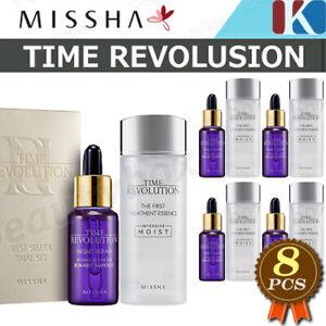 8pcs MISSHA Time Revolution Treatment Essence 4EA + Night Repair Ampoule 4EA