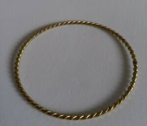 Lovely Twisted Yellow Gold Coloured Metal Styled Bangle Bracelet