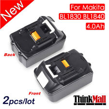 2 X 18V 4.0Ah Battery Lithium Ion For Makita BL1830 LXT Heavy Duty Replace US