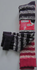 New Girls Marks & Spencer Purple & Pink Knee High Socks Size 4 - 7 11 Years +