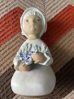 Vintage Signed Elaine Carlock Chalkware Baby