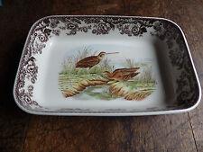 woodland spode   large vegetatable dish  l Plate bird duck  b