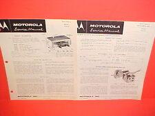 1954 1955 1956 CHEVROLET BUICK PONTIAC OLDS MOTOROLA RADIO+TUNER SERVICE MANUAL