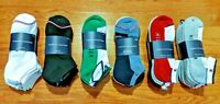 Men's Tommy Hilfiger 6 Pair Pack Cotton Blend Cushioned Sole No Show Socks 7-12