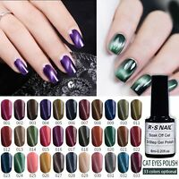 RS Nail Gel Polish UV LED Sequined Soak Off Color Gel Magnetic Wand