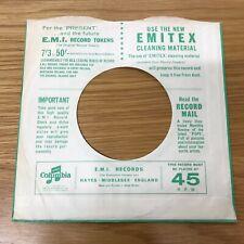 "One 7"" -- Columbia --Original Record  Sleeve   7/3 to 50/-"