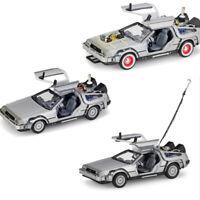 Welly 1/24 1:24 Back to future I II III Time machine Delorean Diecast Car model