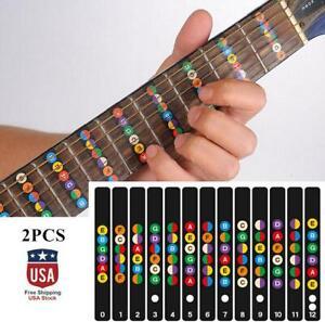 2Pcs/Set Guitar Accessories Fretboard Notes Map Sticker Fingerboard Fret Decals