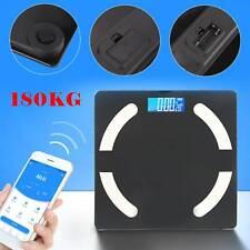 Bathroom Weight Digital Scales Smart Body Fat BMI Bluetooth Weighing 180KG