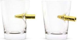2x Novelty Vintage Tumbler Spirit Bullet Shot In Glass Liquor Tasting 60ml UK