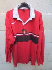 VINTAGE Maillot rugby STADE TOULOUSAIN 1998 Nike shirt coton ancien XL