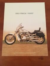 2003 HARLEY-DAVIDSON VRSCA V-ROD SALES BROCHURE 100th Anniversary