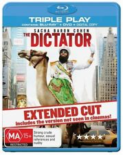 THE DICTATOR= Blu-ray + DVD + Digital Copy=SACHA BARON COHEN=REGION B AUSTRALIAN