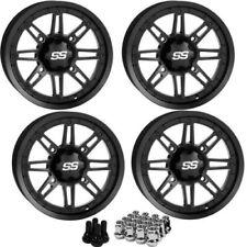 "ITP SS216 ATV Wheels/Rim Matte Black 12"" Polaris Ranger,RZR, Sportsman-4 wheels"