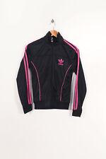 Vintage Adidas Veste de Survêtement Noir/Rose (M)