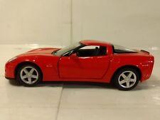 Kinsmart Red 2007 Chevrolet Corvette C6 Z07 Friction 1:36 Scale Diecast dc2277