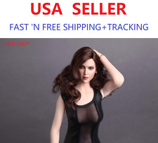 """IN STOCK GAC TOYS 1/6 Female Head w/ Long Curly Hair For 12"""" female body Phicen"""