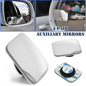 Car SUV Rearview Blind Spot Wide Angle Adjustable Rimless Rear Auxiliary Mirror