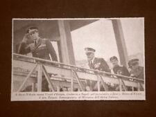 Napoli nel 1937 Duca d'Aosta s'imbarca su incrociatore Zara Gen.Teruzzi Campania