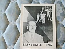 1946-47 UCLA BRUINS BASKETBALL MEDIA GUIDE Yearbook Press Book Program 1947 AD