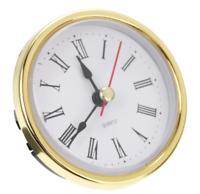 """Classic Clock Craft Quartz Movement 2-1/2"""" (65mm) Round Head Insert Roman Number"""