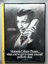 "Rare 1980's Official Motorola Cell Phone Celebrity 26' x 18"" Poster  CLARK GABLE"