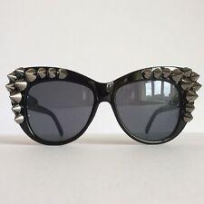 Feline Punk (Black) - PinksAndMinks Embellished Sunglasses Punk Studs Spikes