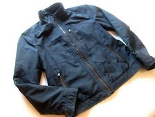 "Men's HUGO BOSS 'Colmon 4' Leather Trim Funnel-Neck Zip-Up Jacket. 42"" Chest."