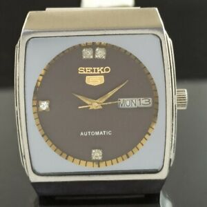 OLD VINTAGE SEIKO 5 AUTOMATIC JAPAN BOY DAY/DATE WATCH 472-a237223-9