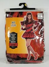 NIP Hot Stuff She Devil red black 8 pc Halloween costume Juniors Small 3/5 #529