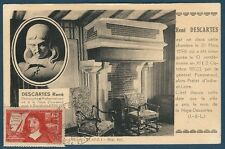 FRANCE - CARTE MAXIMUM - N°342 - RENE DESCARTE -