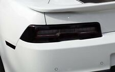 14-15 CHEVY CAMARO RS TAIL LIGHT WITH WHITE CUTOUT PRECUT SMOKE TINT OVERLAYS