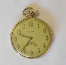 Pocket Watch # 24322143 Model 1924 Waltham Riverside 14K Yellow Gold Open Face