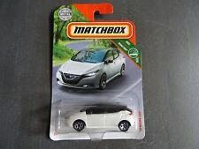 Matchbox ' 18 Nissan Leaf - in white colour - U.S. Long Card - Road Trip. SEALED