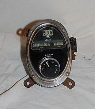 Vintage Antique Stewart Speedometer Gas Fuel Gauge Dash Cluster Rat Rod Cadillac