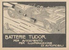 Z1688 Batterie TUDOR - Illustrazione - Pubblicità d'epoca - 1922 Old advertising