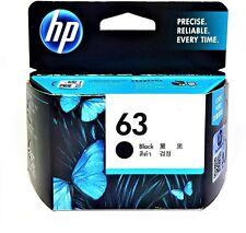 HP 63 Original Black Ink Cartridge, HP Deskjet 1110 Series, ENVY 45 series, Offi
