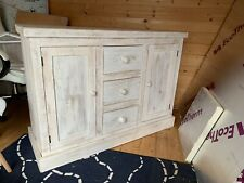 New Chunky Reclaimed Wood 2 Door 3 Drawer Sideboard Farmhouse Distressed