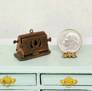 Vintage Victorian Copper Old Fashioned Toaster Dollhouse Miniature 1:12 Kitchen
