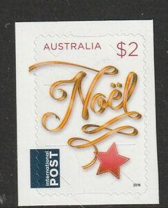 AUSTRALIA 2018 CHRISTMAS $2 NOEL SELF ADHESIVE STAMP MNH