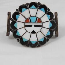 Best! Zuni Marie Qualo Sun Face Bracelet w Enameled Base Published Small Size