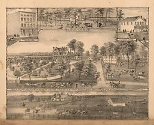 Montgomery County Illinois 1868 Atlas maps state Genealogy Land Owners Dvd P19