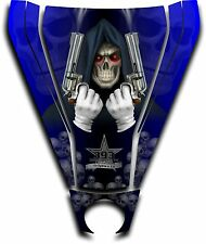 Graphic Decal Kit Canam Commander Can Am Hood Sticker Reaper Revenge Blue