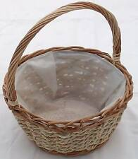 WICKER & SEAGRASS ROUND DISPLAY/SHOPPING BASKET.Large