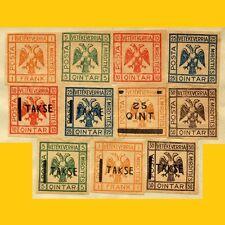 SERIE 11 TIMBRES D'ALBANIE (PROVINCE DE MIRDICIE) ANNEES 1918-1920